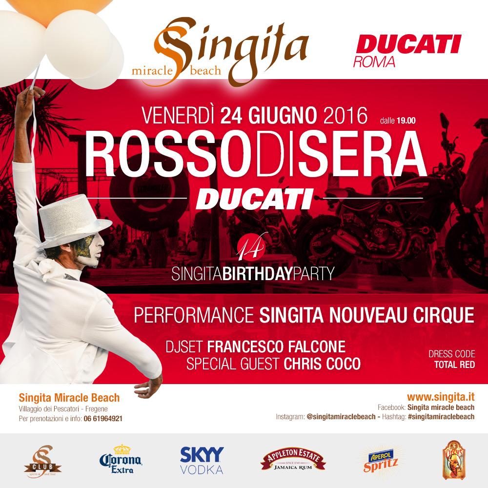 ROSSO DI SERA with DUCATI