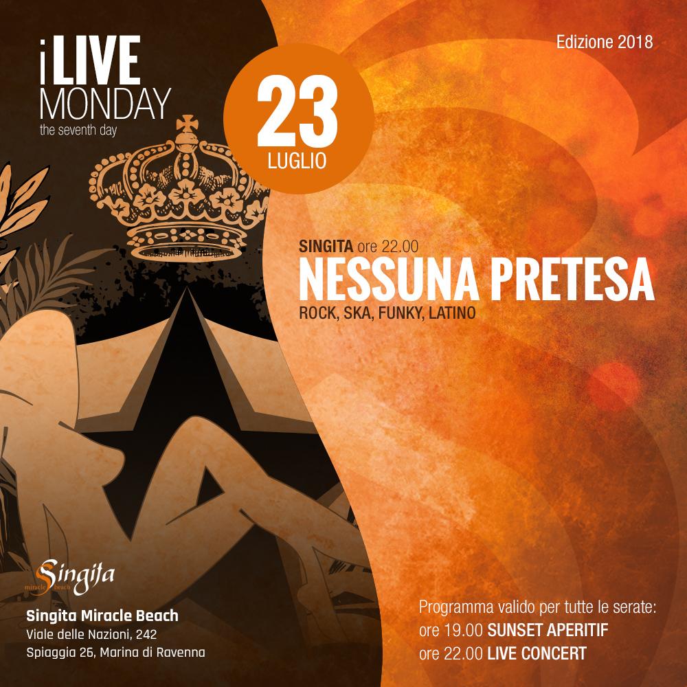 NESSUNA PRETESA - live